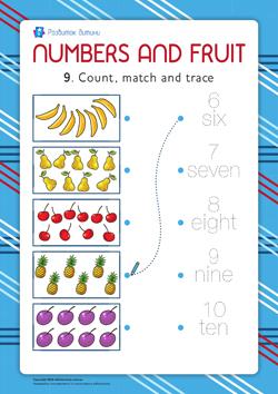Вивчаємо цифри (англійська мова) 9