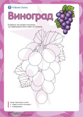 Розмальовка «Виноград»