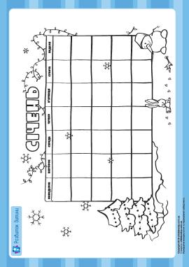 Створюємо календар: січень
