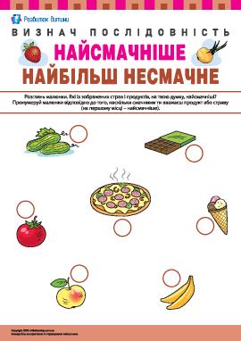 Визначаємо вподобання в їжі: найсмачніше – найбільш несмачне