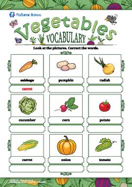Виправляємо назви: «Овочі» (англійська мова)