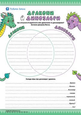 Дракони й динозаври: творче порівняння