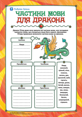 Частини мови для дракона: повторення