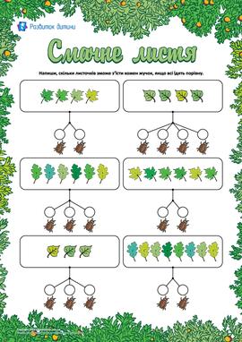 Смачне листя: вчимося ділити