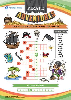 Кросворд англійською «Пригоди піратів»