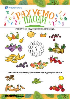 Рахуємо плоди: вивчаємо склад числа