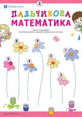 Пальчикова математика: малюємо листочки