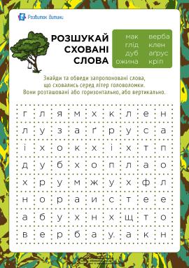 Розшукай сховані слова: рослини