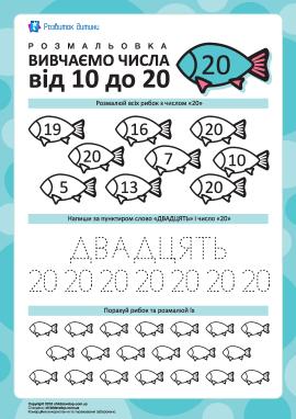 Вивчаємо число «20»