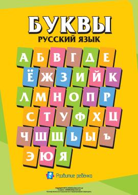 Написання літер російського алфавіту