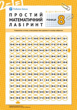 Математичний лабіринт: різниця «8»