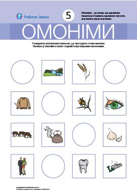Омоніми № 5 (ручка, рукав, бокс, труба)