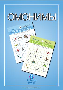 Вивчаємо омоніми (російська мова)