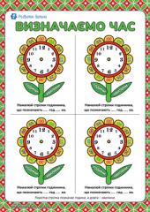 Учимось визначати час за годинником