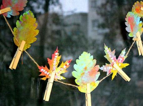 Творчі експерименти з осіннім листям