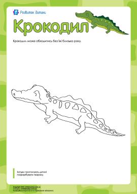 Розмальовка «Крокодил»