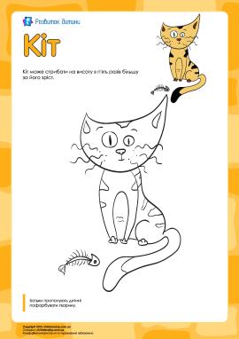 Розмальовка «Кіт»