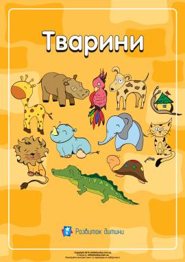 Розмальовка «Тварини»