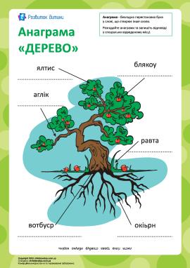 Анаграма «Дерево»
