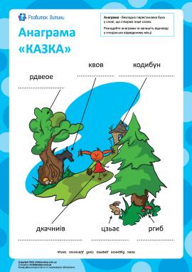 Анаграма «Казка»