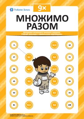 Множимо разом № 9: учимо таблицю множення