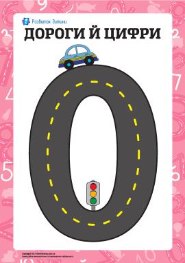 Навчальна гра «Дороги й цифри»: «нуль»