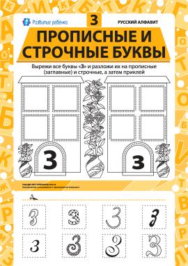 Учимо велику та рядкову літеру З (російська абетка)