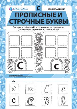 Учимо велику та рядкову літеру С (російська абетка)