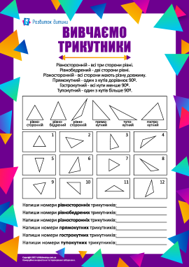 Вивчаємо різні види трикутників