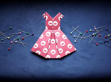 Дівчаче орігамі — сукня середнього рівня складності