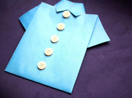 Орігамі з чоловічим характером — сорочка з паперу