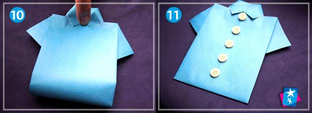 Орігамі з чоловічим характером — сорочка з паперу – Розвиток дитини 6fcd3563ca3c7