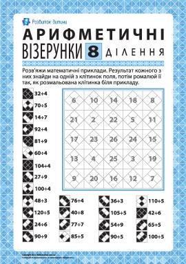 Арифметичний візерунок № 8: ділення