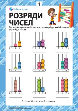 Розряди чисел: учимо клас одиниць № 1
