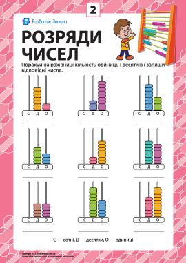 Розряди чисел: учимо клас одиниць № 2