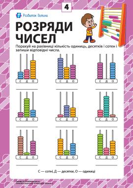 Розряди чисел: учимо клас одиниць № 4