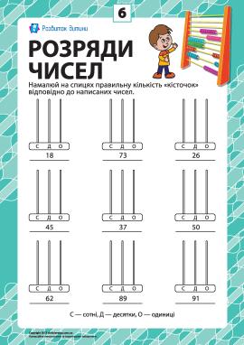 Розряди чисел: учимо клас одиниць № 6