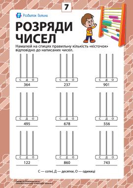 Розряди чисел: учимо клас одиниць № 7