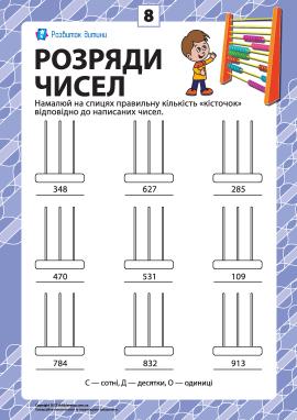 Розряди чисел: учимо клас одиниць № 8