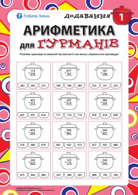 Арифметика для гурманів №1: додавання