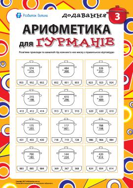 Арифметика для гурманів №3: додавання
