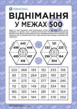 Віднімання трицифрових чисел в межах 500
