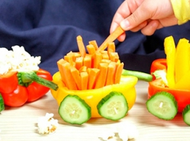 Овочевий поїзд: готуємо разом з дитиною
