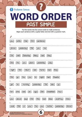 Порядок слів у питальному реченні: Past Simple