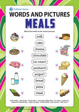 Слова та малюнки: їжа
