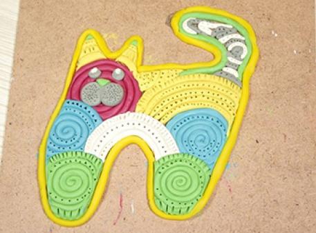 Пластиліновий кіт: як зробити панно зі спіралей