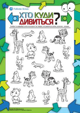 Тварини: хто куди дивиться? Визначаємо напрямок