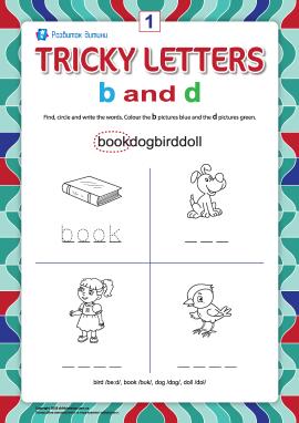Пишемо правильно англійські літери №1 (b та d)