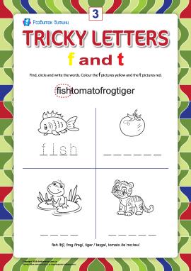 Пишемо правильно англійські літери № 3 (f  та t)