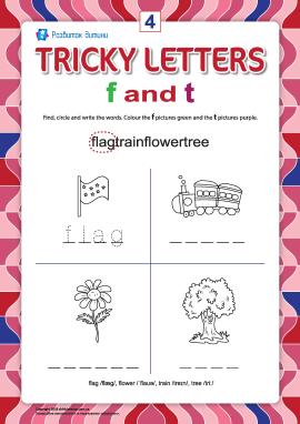 Пишемо правильно англійські літери № 4 (f  та t)